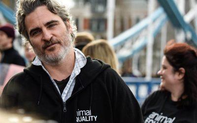 Joaquin Phoenix continues to urge everyone to go vegan