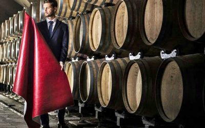 Leather made from wine waste