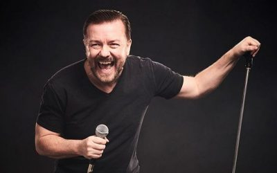Comedian Ricky Gervais supports animal charities and shares his favourite vegan meals