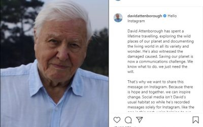 Sir David Attenborough joins Instagram and he has a message on climate change